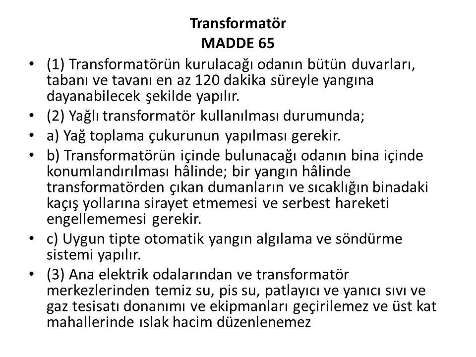 Transformatör MADDE 65