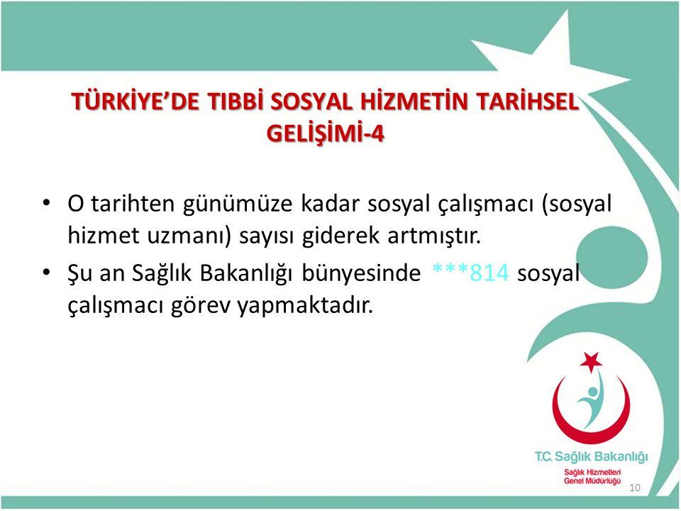 TÜRKİYE'DE TIBBİ SOSYAL HİZMETİN TARİHSEL GELİŞİMİ-4