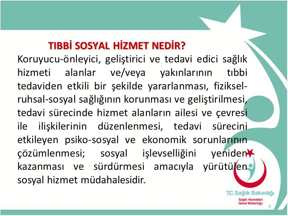 TIBBİ SOSYAL HİZMET NEDİR