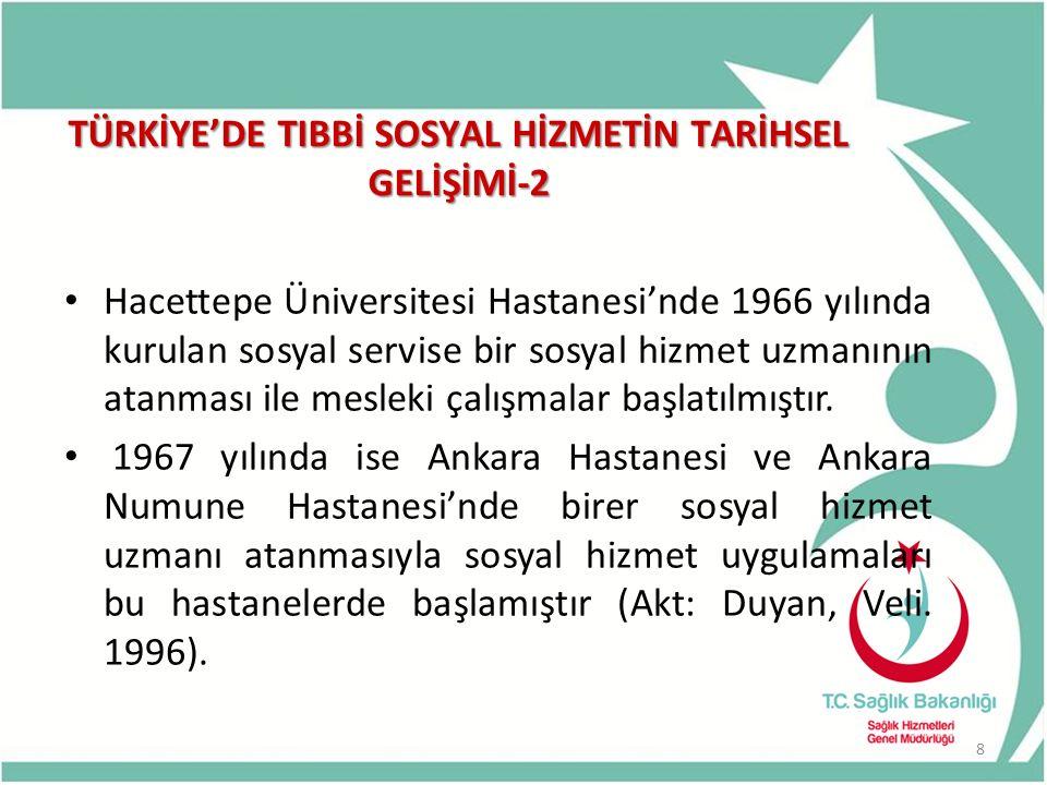 TÜRKİYE'DE TIBBİ SOSYAL HİZMETİN TARİHSEL GELİŞİMİ-2