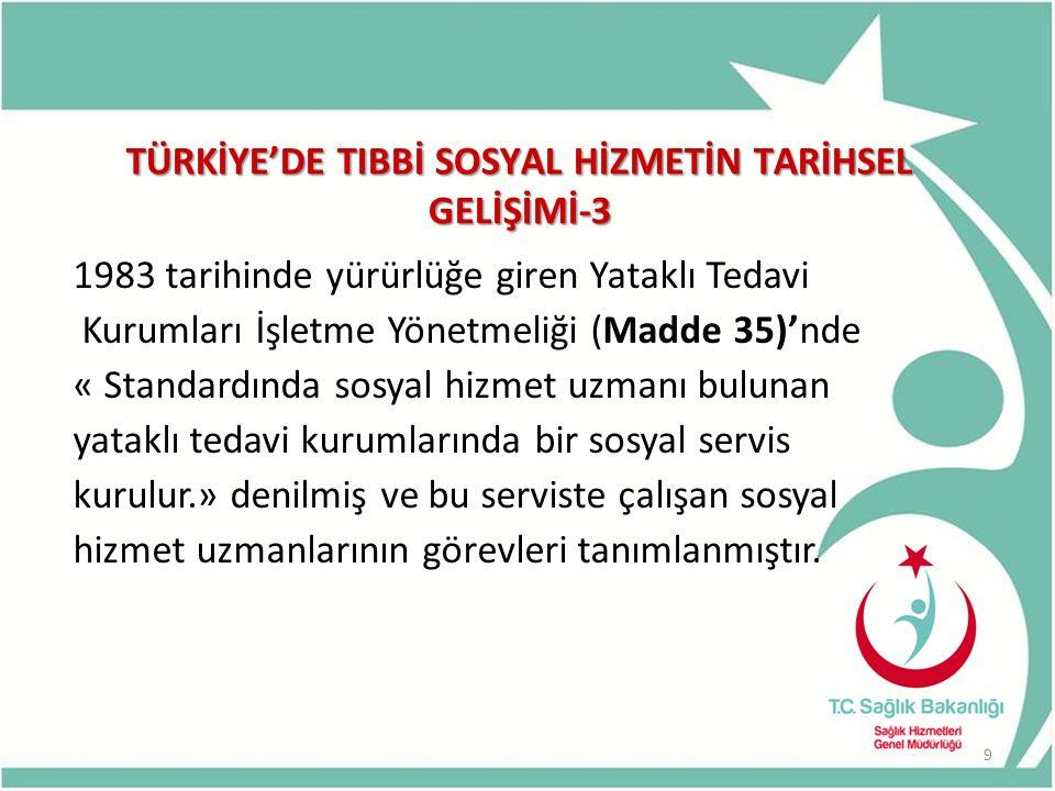 TÜRKİYE'DE TIBBİ SOSYAL HİZMETİN TARİHSEL GELİŞİMİ-3