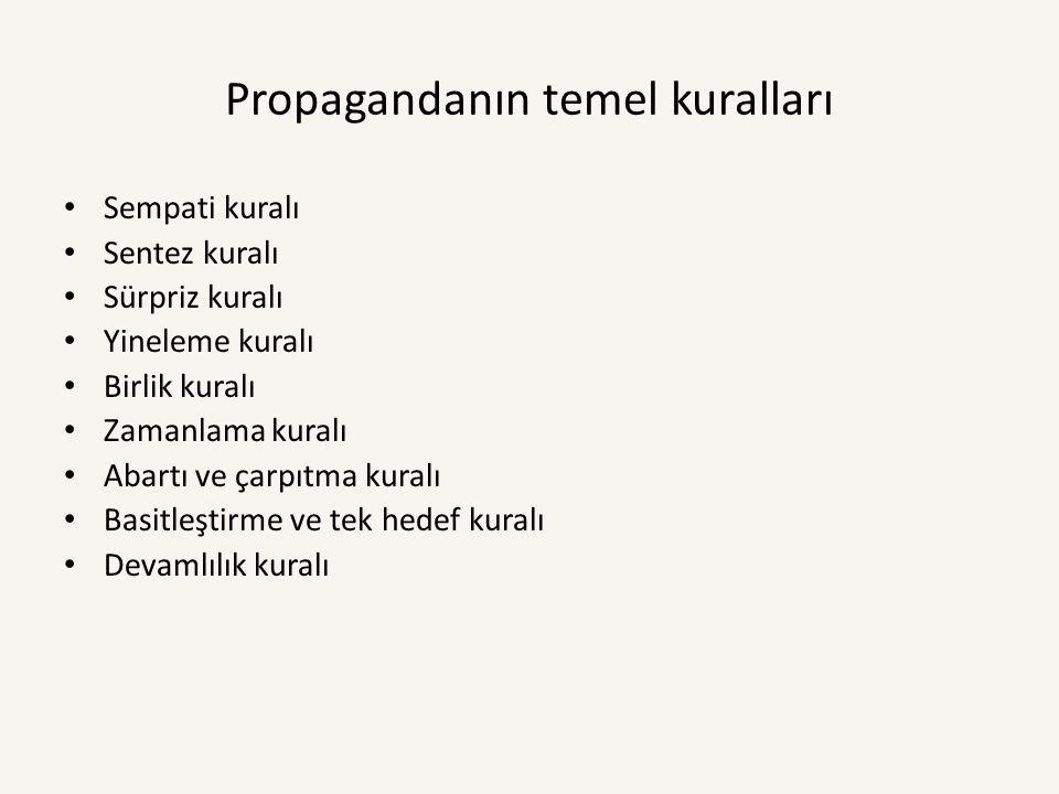 Propagandanın temel kuralları