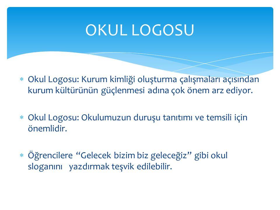 OKUL LOGOSU Okul Logosu: Kurum kimliği oluşturma çalışmaları açısından kurum kültürünün güçlenmesi adına çok önem arz ediyor.