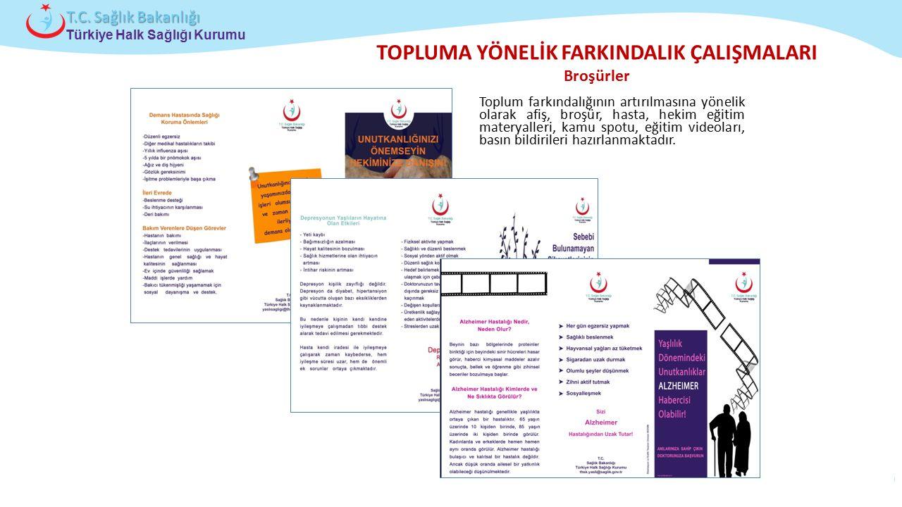 TOPLUMA YÖNELİK FARKINDALIK ÇALIŞMALARI Broşürler