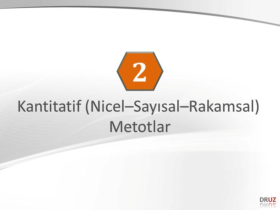 Kantitatif (Nicel–Sayısal–Rakamsal)