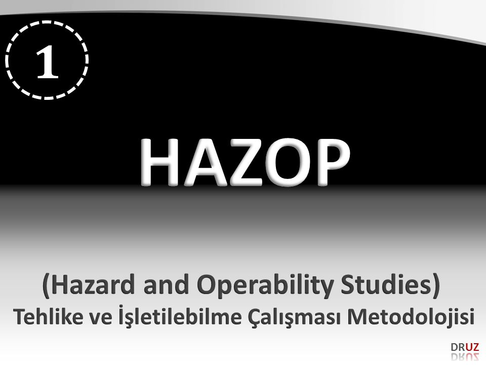 HAZOP 1 (Hazard and Operability Studies)