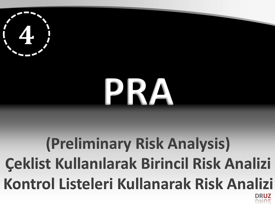 PRA 4 (Preliminary Risk Analysis)