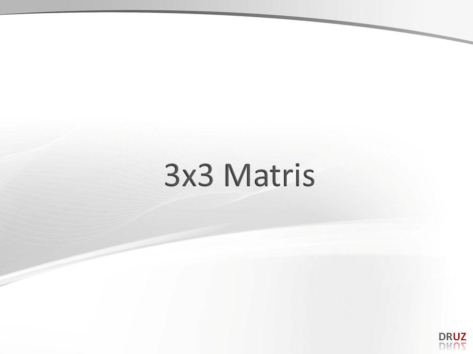 3x3 Matris DRUZ 159 159
