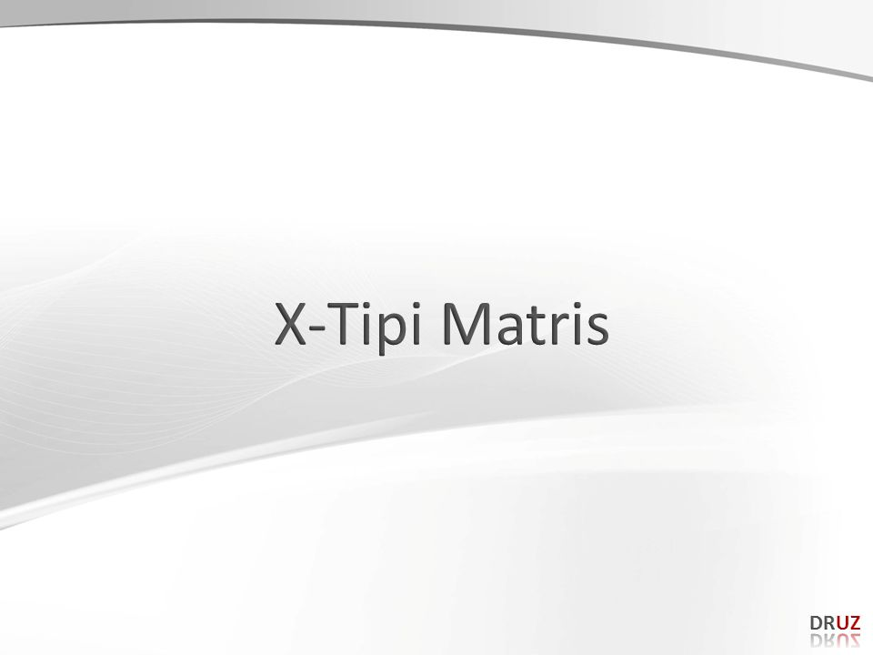 X-Tipi Matris DRUZ 167 167