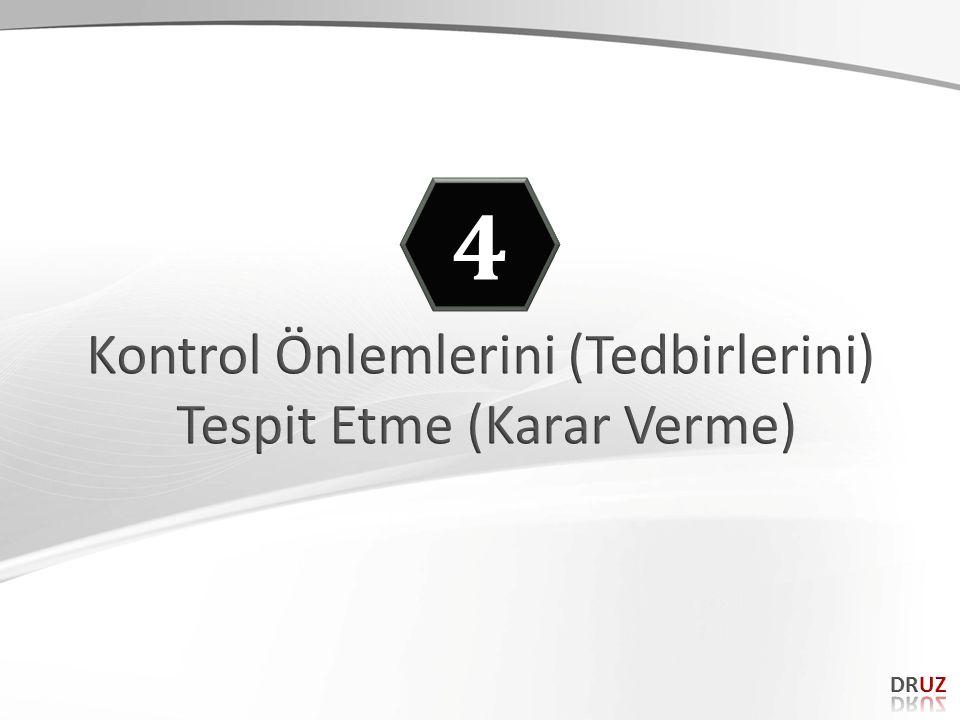 4 Kontrol Önlemlerini (Tedbirlerini) Tespit Etme (Karar Verme) DRUZ 72