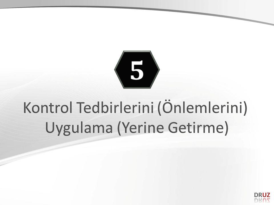5 Kontrol Tedbirlerini (Önlemlerini) Uygulama (Yerine Getirme) DRUZ 88