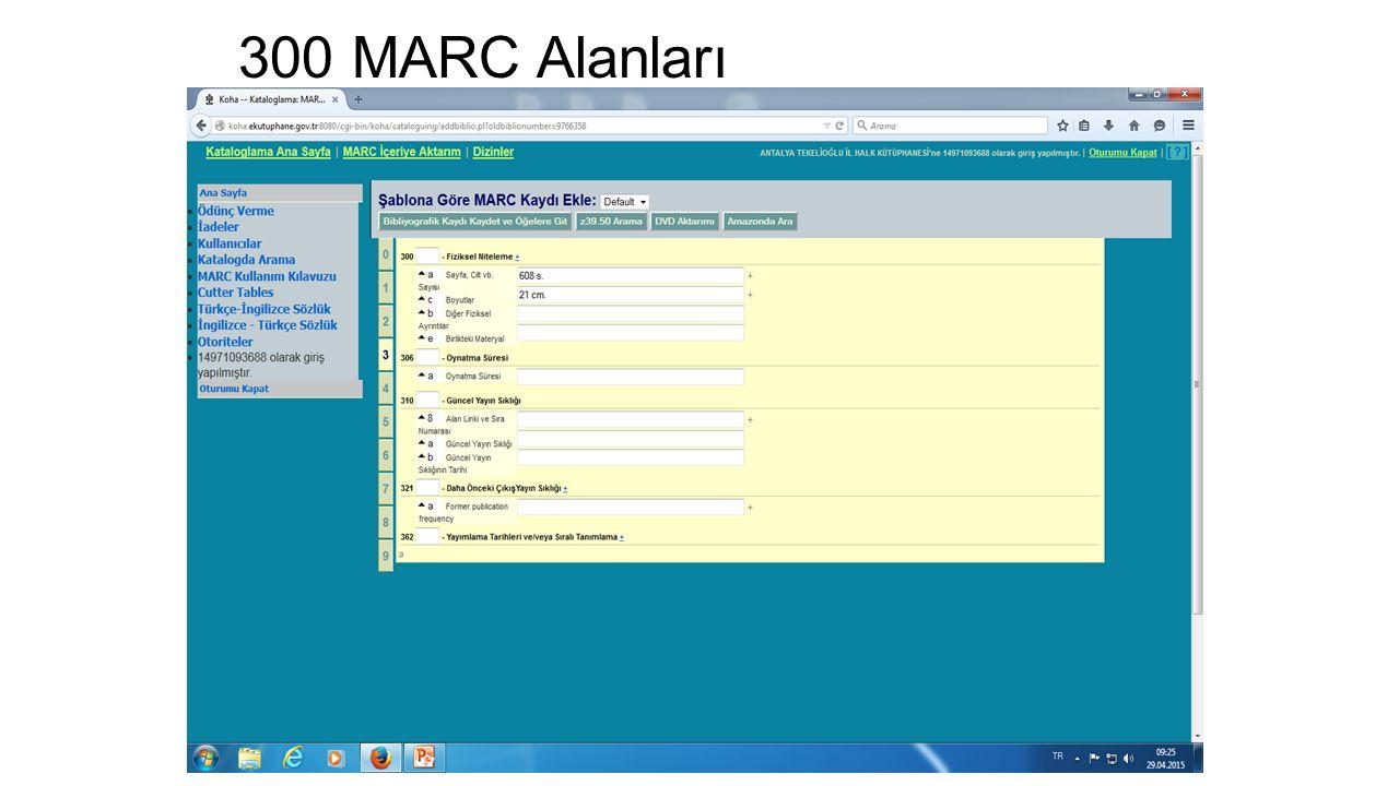 300 MARC Alanları