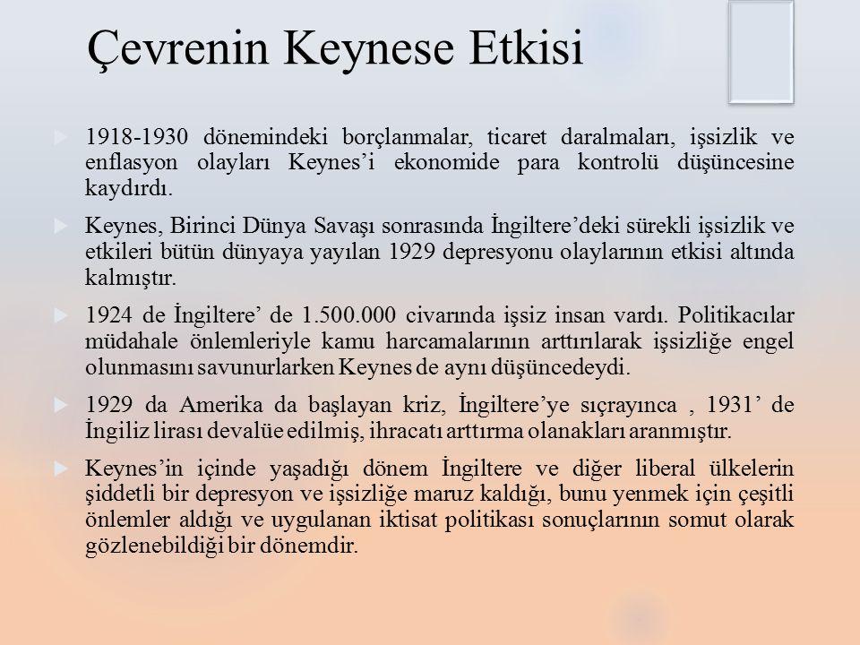 Çevrenin Keynese Etkisi