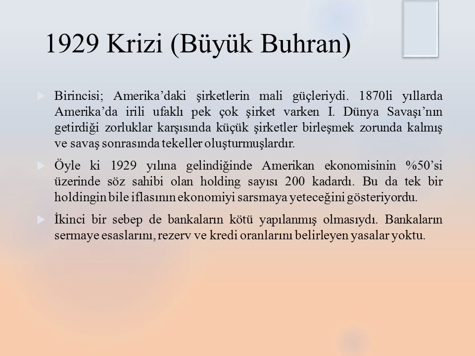 1929 Krizi (Büyük Buhran)