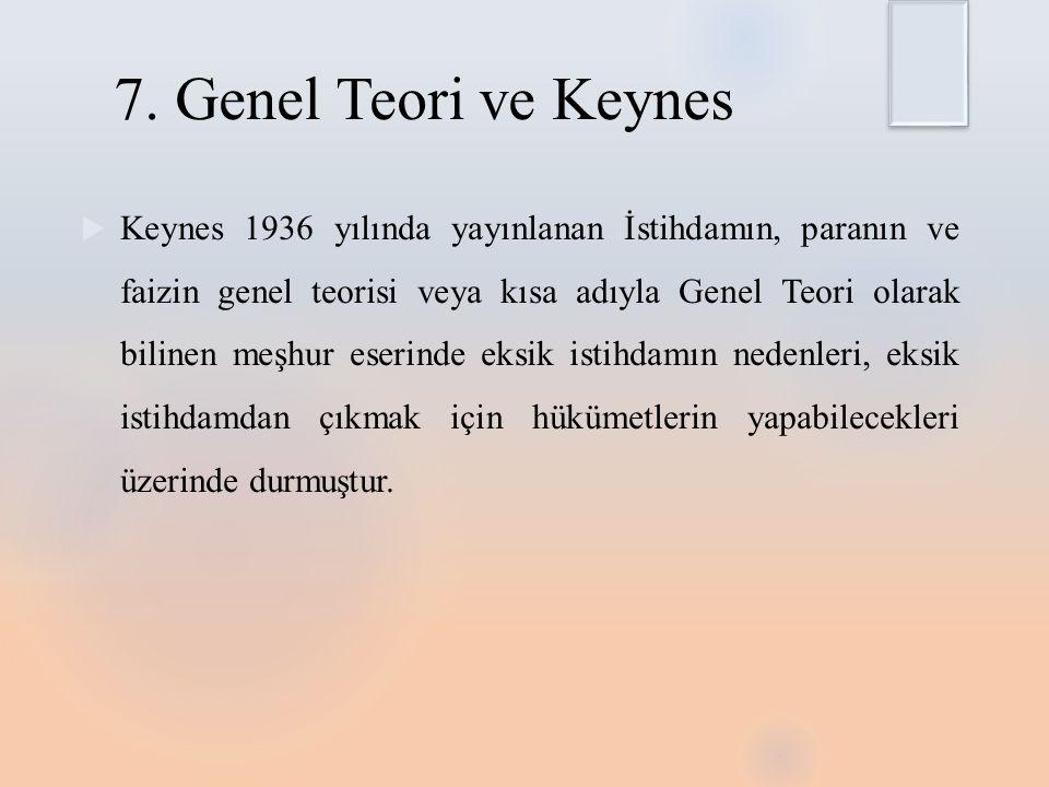 7. Genel Teori ve Keynes