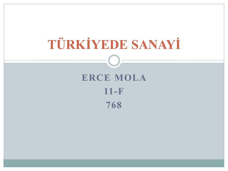 TÜRKİYEDE SANAYİ ERCE Mola 11-f 768