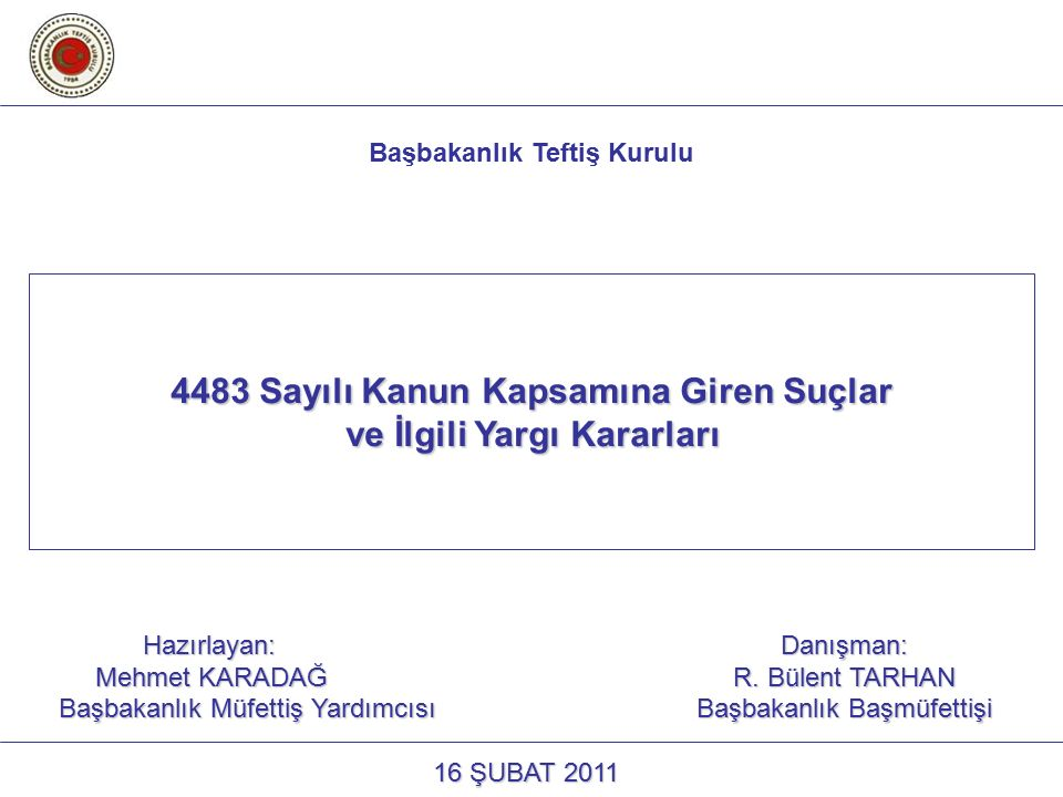 4483 Sayılı Kanun Kapsamına Giren Suçlar ve İlgili Yargı Kararları