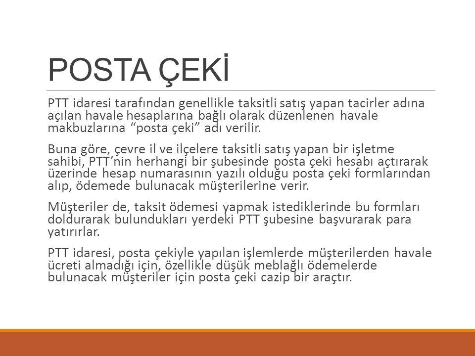 POSTA ÇEKİ