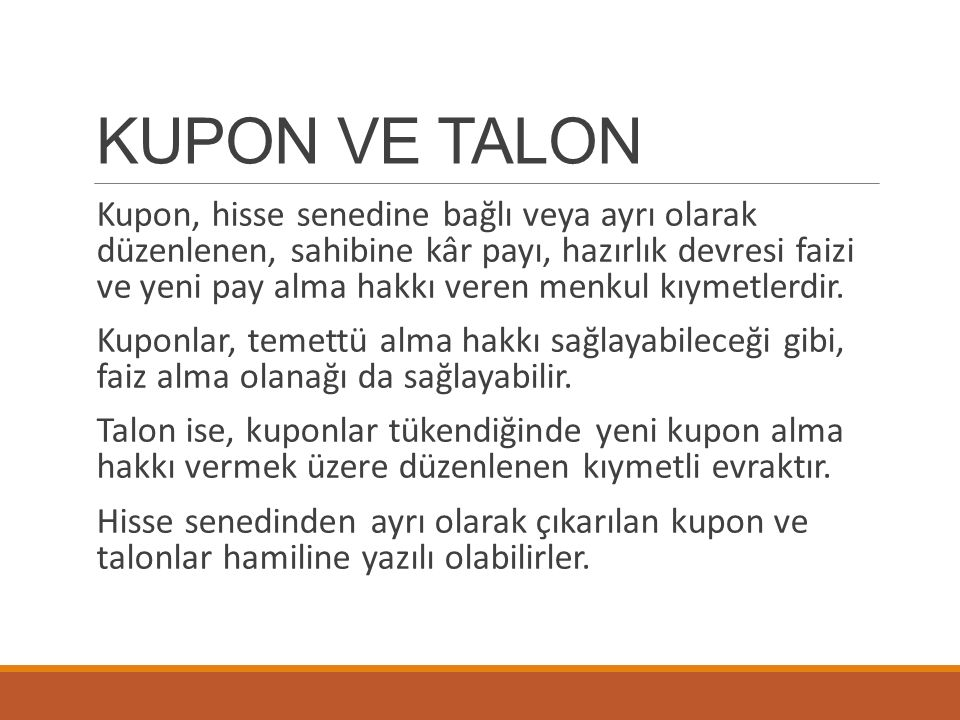 KUPON VE TALON