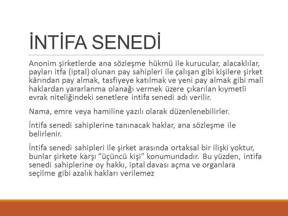 İNTİFA SENEDİ