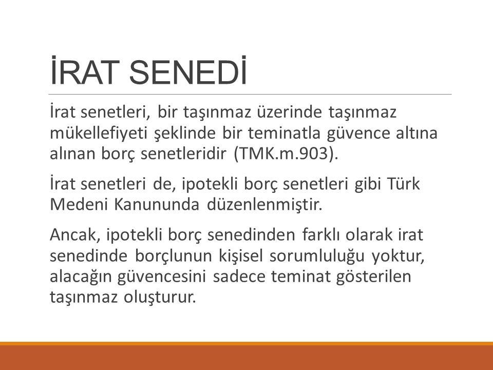 İRAT SENEDİ