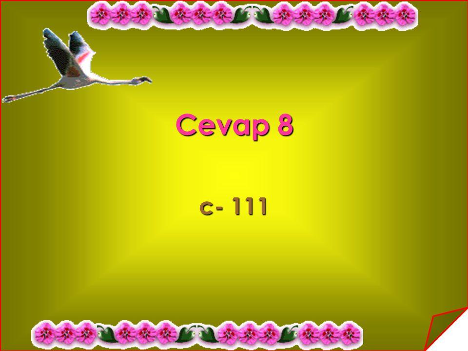 Cevap 8 c- 111