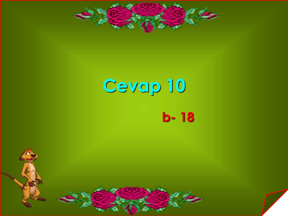 Cevap 10 b- 18