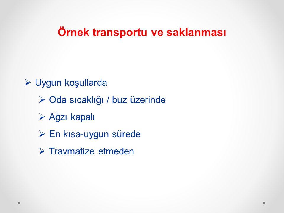 Örnek transportu ve saklanması