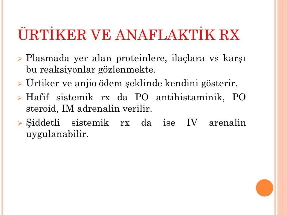 ÜRTİKER VE ANAFLAKTİK RX
