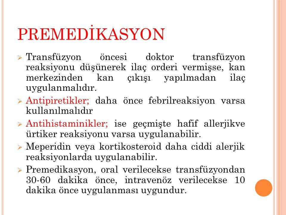 PREMEDİKASYON