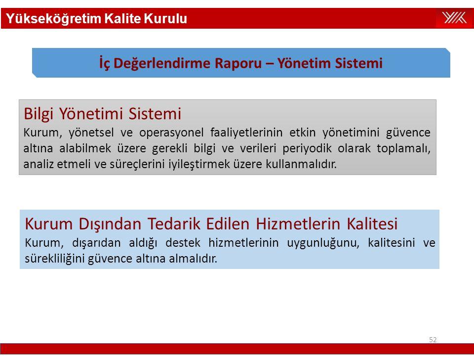 İç Değerlendirme Raporu – Yönetim Sistemi