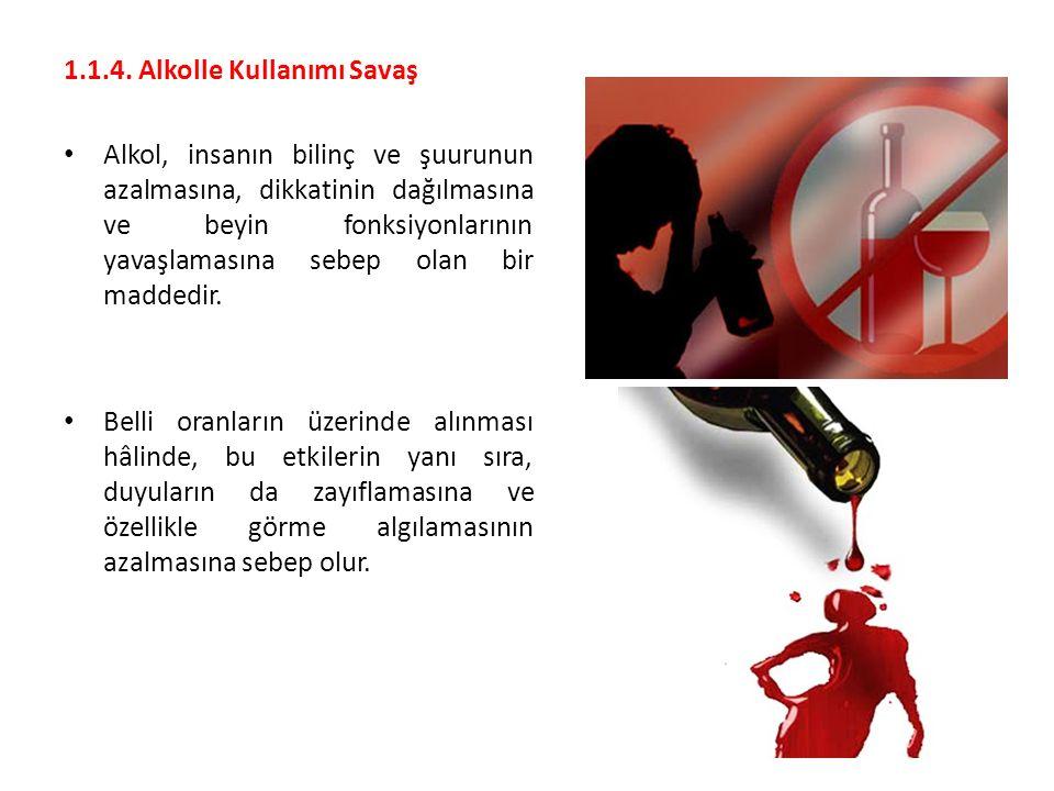 1.1.4. Alkolle Kullanımı Savaş