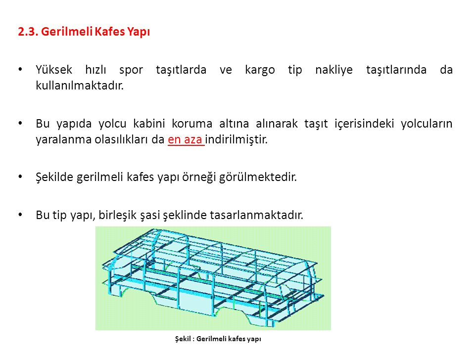 Şekilde gerilmeli kafes yapı örneği görülmektedir.