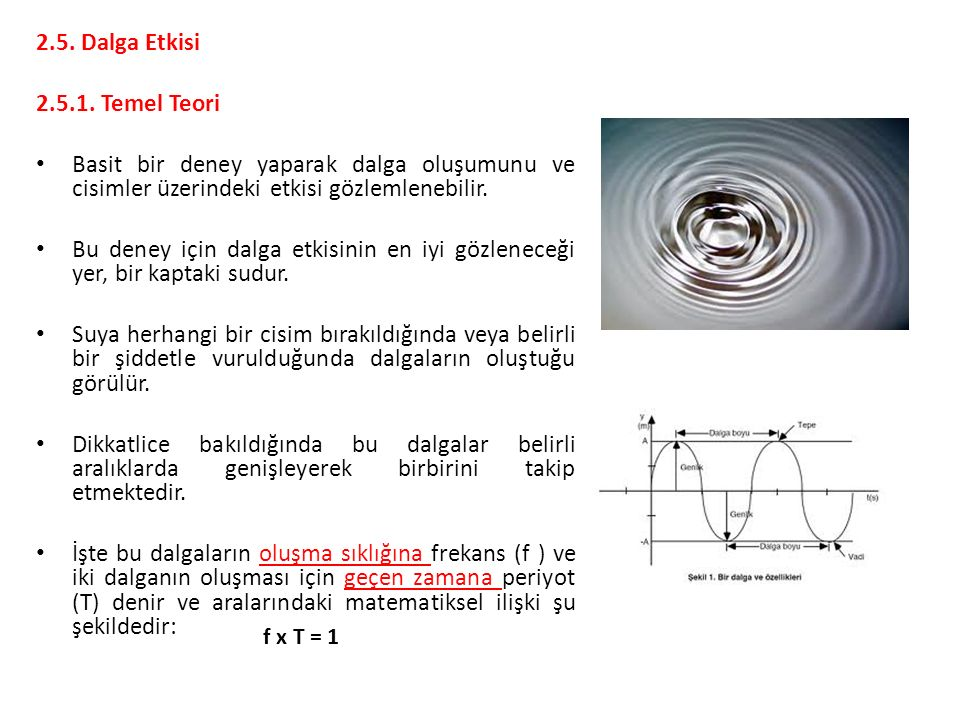 2.5. Dalga Etkisi 2.5.1. Temel Teori