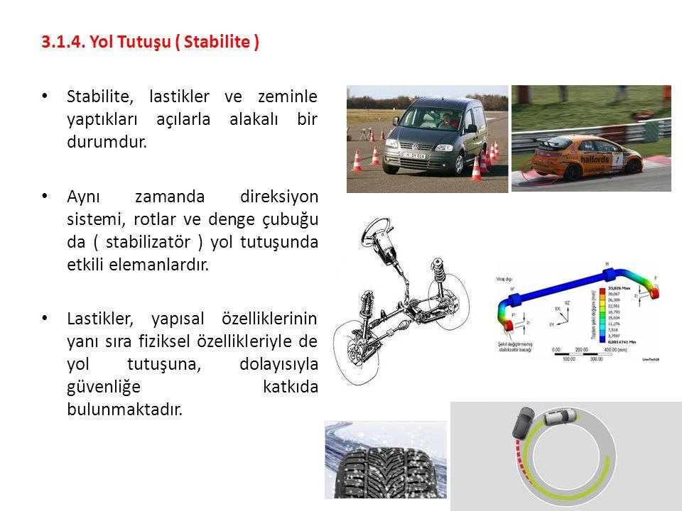 3.1.4. Yol Tutuşu ( Stabilite )