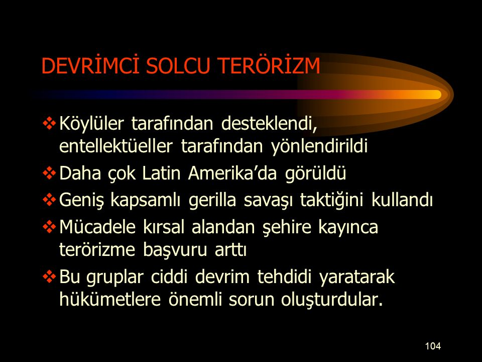 DEVRİMCİ SOLCU TERÖRİZM