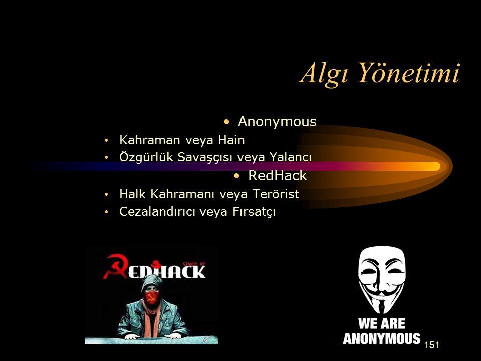 Algı Yönetimi Anonymous RedHack Kahraman veya Hain