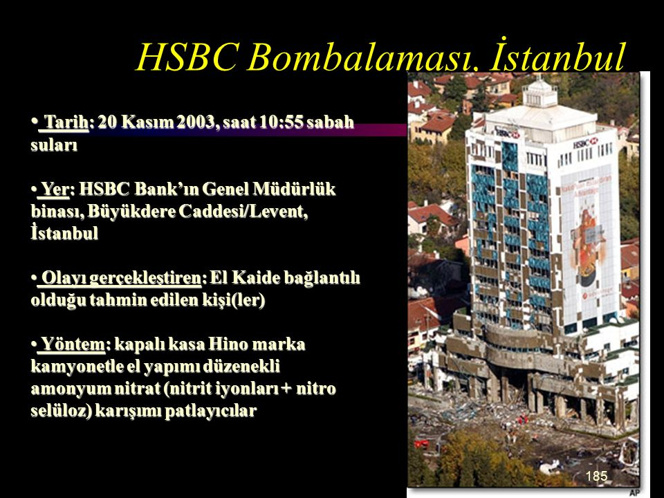 HSBC Bombalaması, İstanbul