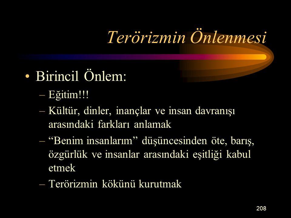 Terörizmin Önlenmesi Birincil Önlem: Eğitim!!!