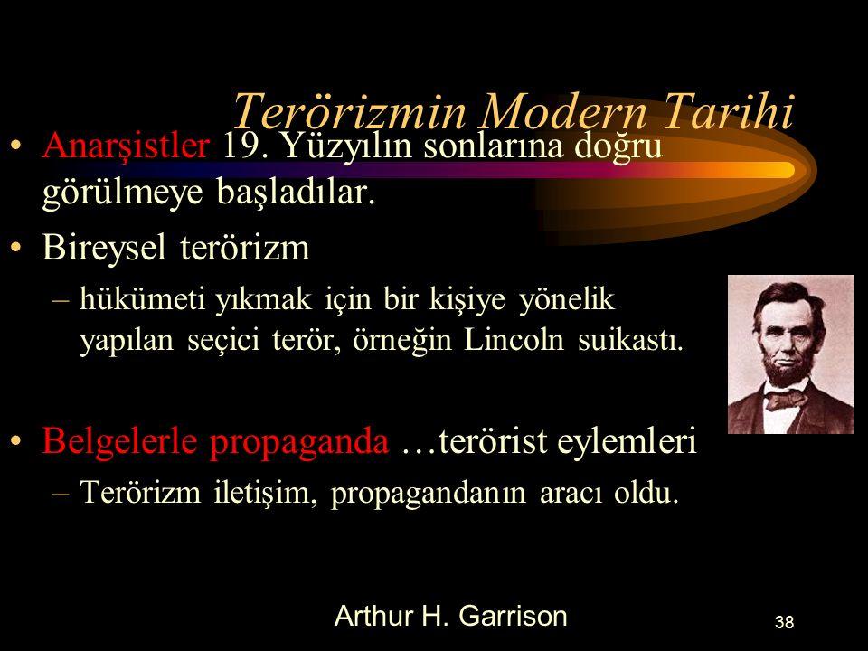 Terörizmin Modern Tarihi