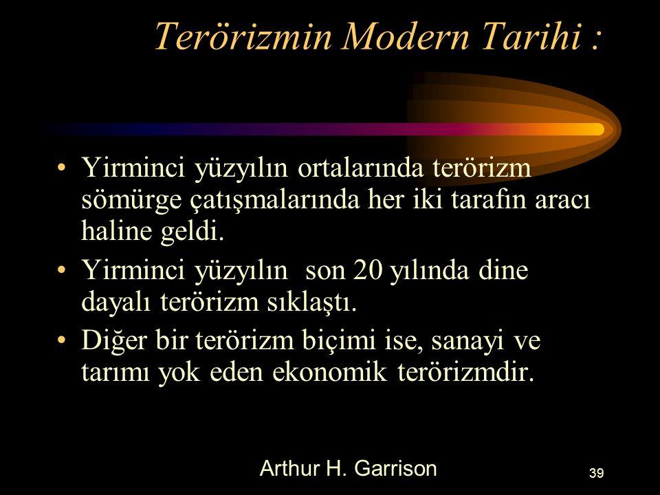 Terörizmin Modern Tarihi :
