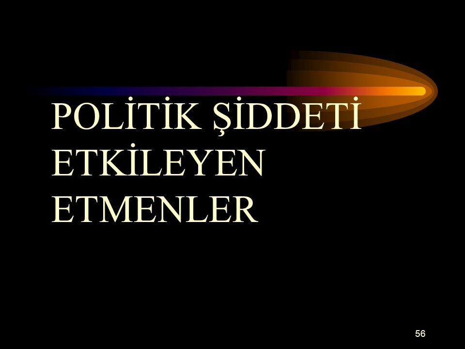 POLİTİK ŞİDDETİ ETKİLEYEN ETMENLER