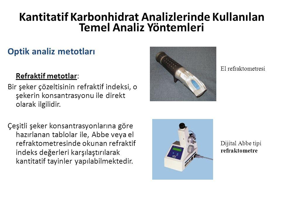 Kantitatif Karbonhidrat Analizlerinde Kullanılan Temel Analiz Yöntemleri