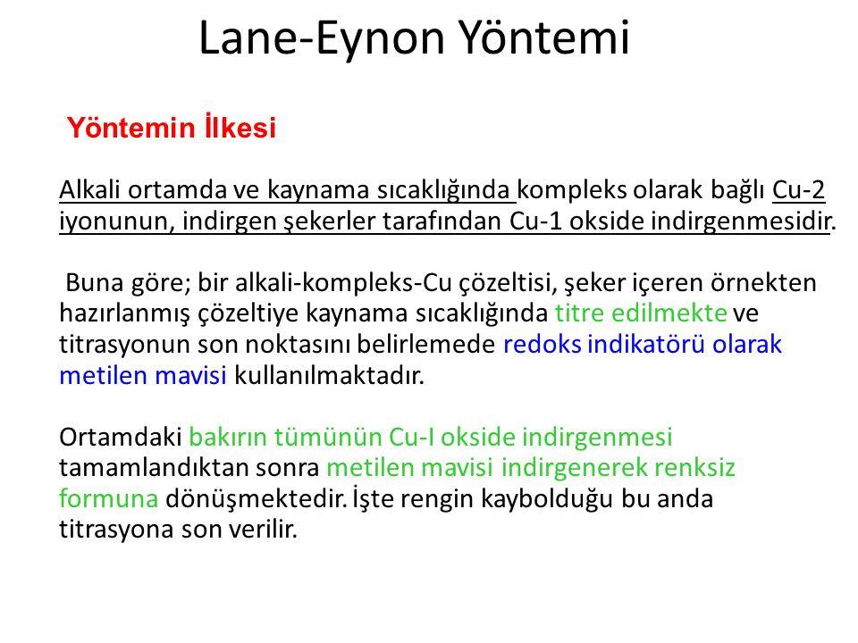 Lane-Eynon Yöntemi Yöntemin İlkesi