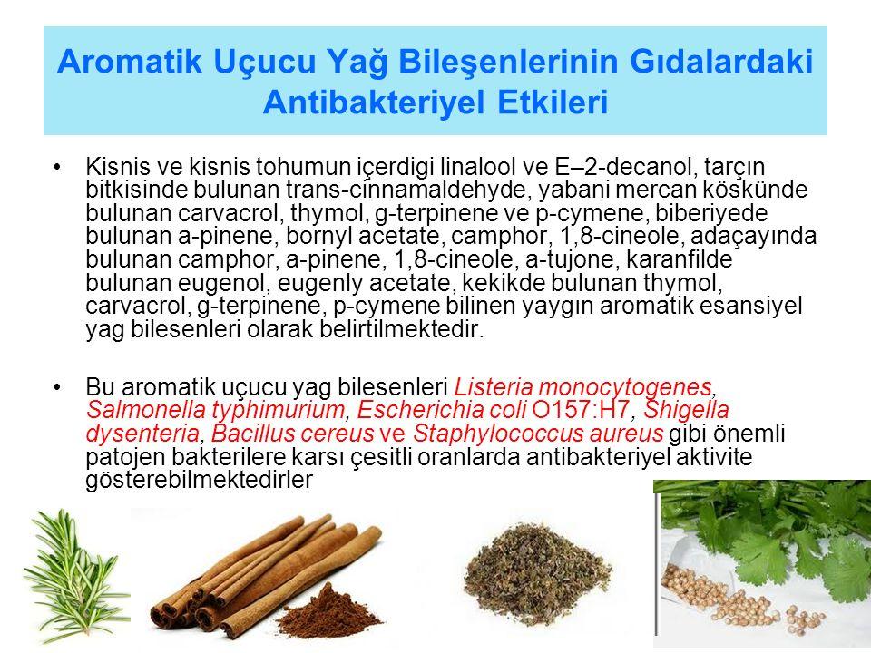 Aromatik Uçucu Yağ Bileşenlerinin Gıdalardaki Antibakteriyel Etkileri