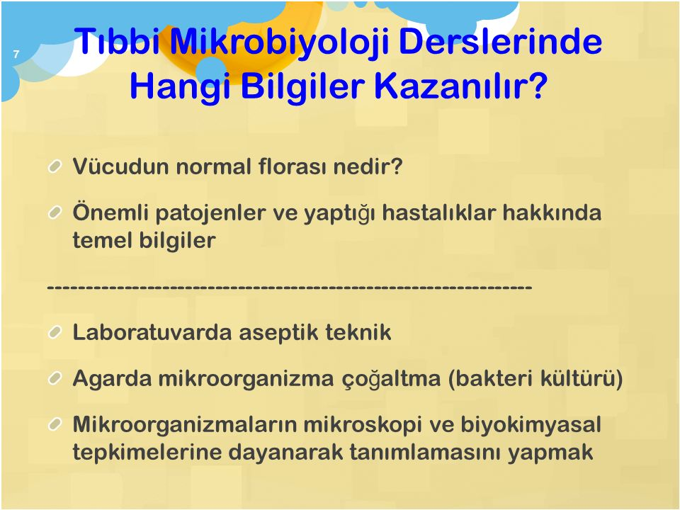 Tıbbi Mikrobiyoloji Derslerinde Hangi Bilgiler Kazanılır