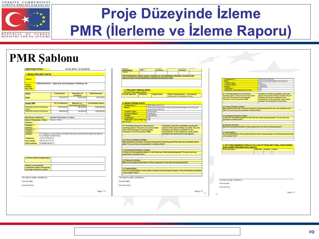 Proje Düzeyinde İzleme PMR (İlerleme ve İzleme Raporu)