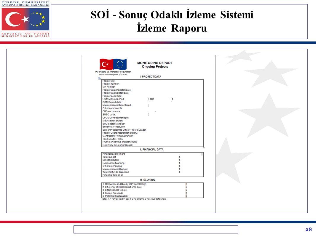 SOİ - Sonuç Odaklı İzleme Sistemi İzleme Raporu