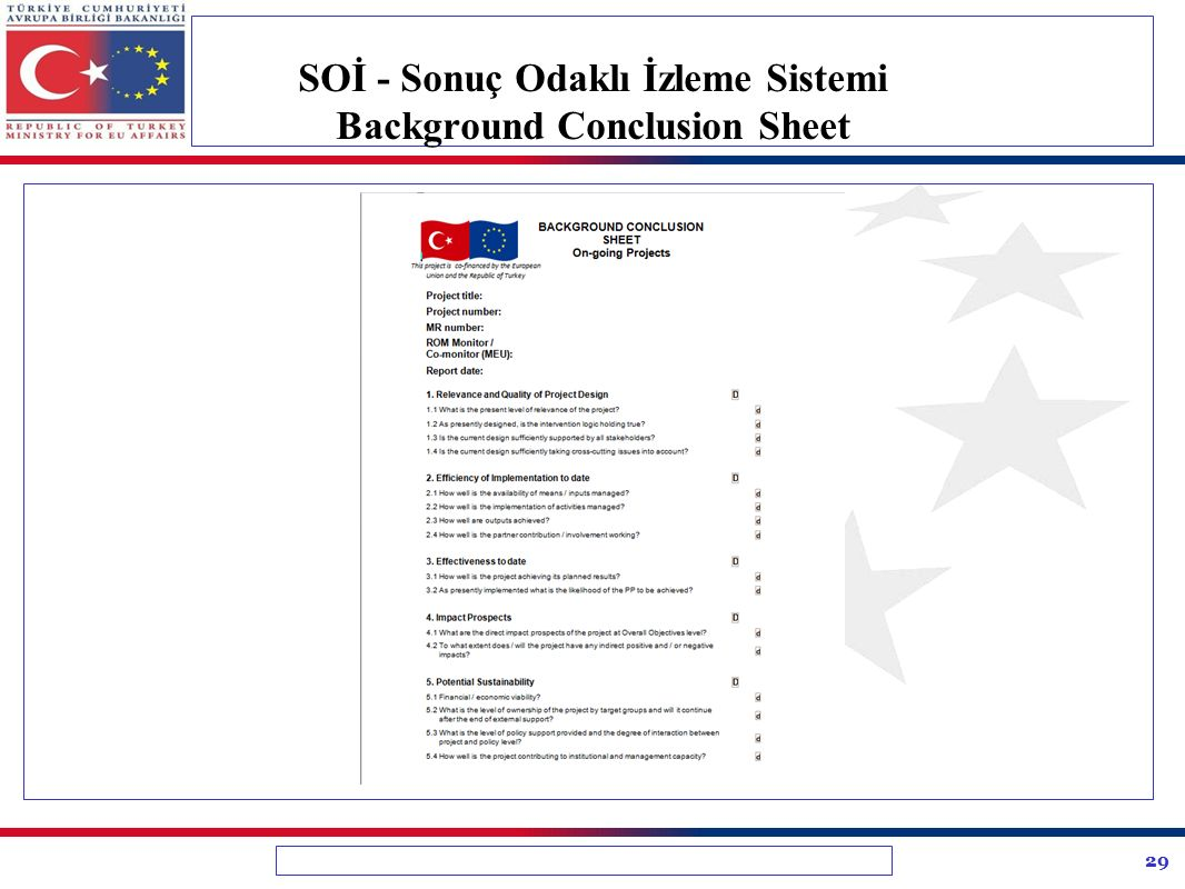 SOİ - Sonuç Odaklı İzleme Sistemi Background Conclusion Sheet