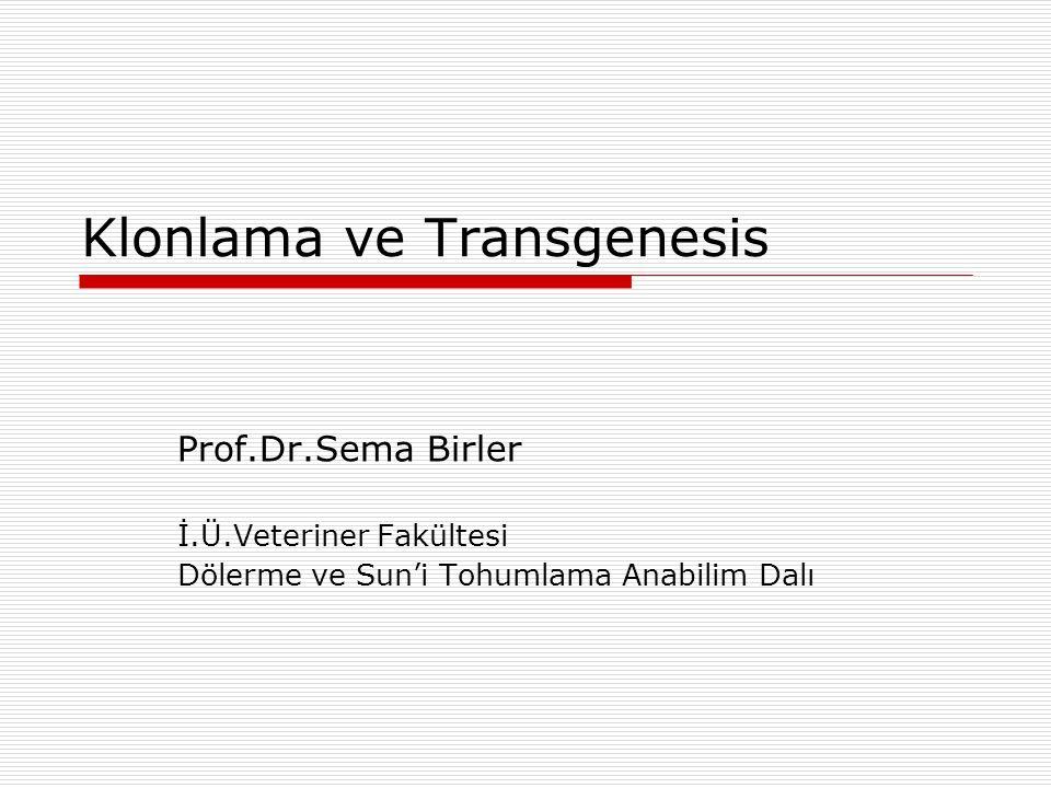 Klonlama ve Transgenesis